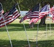 Lumina News file photo. American flags surround Wrightsville Beach Park in honor of Memorial Day 2014.