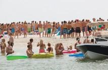 Lumina News file photo. People gather on the western side of Masonboro Island on July 4, 2011.