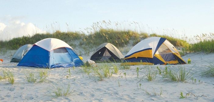 Lumina News file photo. Masonboro Island offers a pristine location for family camping trips only a short boat ride from Wrightsville Beach.