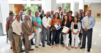 Supplied photo courtesy of the Wilmington Regional Association of Realtors. Rep. Susi Hamilton, D-New Hanover, front middle, was one of the lawmakers the Wilmington Regional Association of Realtors met with during their June 18 visit to Raleigh.