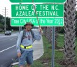 Buddy Weeks walked from Fayetteville to Wrightsville Beach, July 7-10, to raise $1,300 to aid 9-year old Miranda Thomas