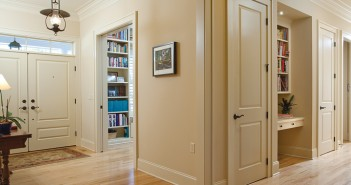 Lumina News file photo. Double front doors with levered hardware, hardwood floors with no carpets, and generously proportioned corridors with pocket door entries allow for the smooth passage of all ages in the Goldwasser residence in Parkside at Mayfaire.
