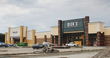 Staff photo by Cole Dittimer. A 50,000 square foot Dick's Sporting Goods and 24,000 square foot Marshalls in the Mayfaire Community Center development are expected to open in September 2014.