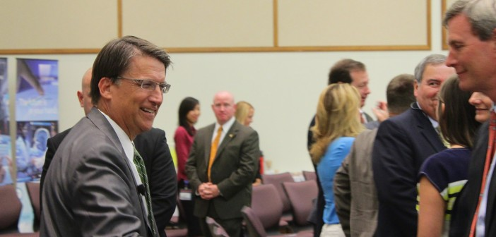 McCrory visit focused on jobs