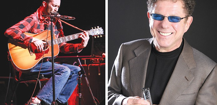 Supplied photos courtesy of the Cape Fear Blues Society. Local blues musician Randy McQuay, left, will open for harmonica legend and Cape Fear Blues Festival headliner Lee Oskar, Saturday, July 26 at the Art Factory.