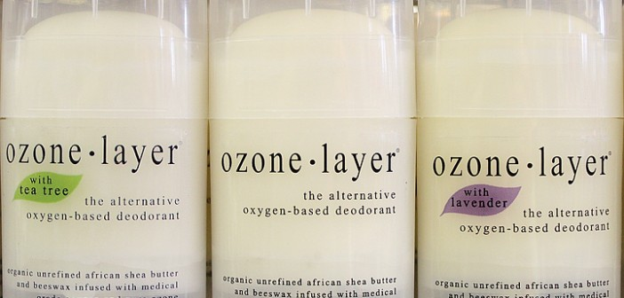 Staff photo by Cole Dittmer. Produced in Kure Beach and sold in local stores like Lovey's Market, Ozone Layer Deodorant is an all natural product devoid of chemicals found in many big brand deodorants like aluminum, parabens and propylene glycol.