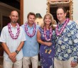 Lumina News file photo. Event co-chairs Chris Eason, Todd McLeod and Susan and Joe Wasserman attend the 2013 Pipeline to a Cure fundraiser at the Country Club of Landfall.