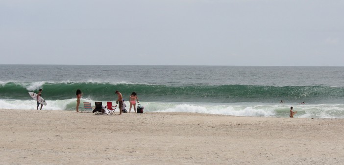Long period swells arrived at Wrightsville Beach on Tuesday, Aug. 5, from the passing Tropical Storm Bertha.