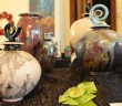 Darrin Darazsdi's ceramic Raku vessels won Best in Category at the 2014 Landfall Foundation Art Show and Sale.