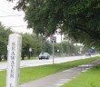 A car drives by the new 35 mph signage on West Salisbury Street in Wrightsville Beach on Monday, Aug. 4.