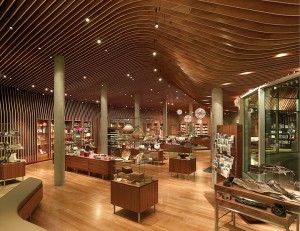 Supplied photo courtesy of Marlon Blackwell Architect. The Crystal Bridges Museum of American Art Store, designed by Marlon Blackwell.