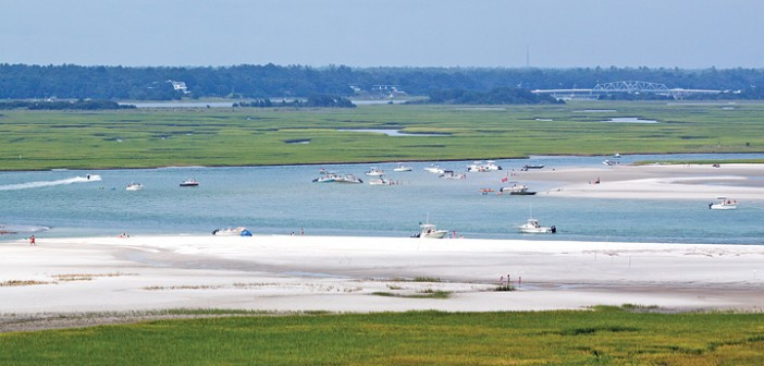 Staff photo by Emmy Errante. Boaters spend the day in Masons Inlet Saturday, Aug. 23.