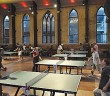 Supplied photo courtesy of Laurence Nadeau. More than 70 competitors of all ages and skill levels gather for the previous Port City Ping Pong Throwdown at the Brooklyn Arts Center on Sept. 6, 2013.