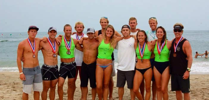 The Wrightsville Beach Ocean Rescue nationals competition team stands with the bronze medals the team won at the 2014 USLA National Lifeguard Championships in Virginia Beach on Saturday, Aug. 9.