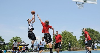 Lumina News file photo. Finalists compete in the Hoops from Helen charity basketball tournament June 4, 2011 in Wrightsville Beach Park. The park will once again be the site of a fundraising tournament Saturday, Sept. 9 with a tournament benefiting Step Up For Soldiers.