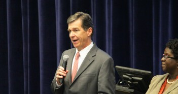 North Carolina Attorney General Roy Cooper speaks to students at Cape Fear Community College about student debt and financial issues Thursday, Sept. 25.