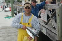 Supplied photo courtesy of Fisherman's Post. 2013 tournament winner Ken Pearce with his trio of Spanish mackerel weighing in at 3.90 pounds.