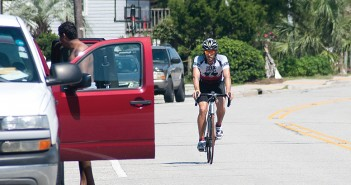 Staff photo by Allison Potter.  Cyclists train on Wrightsville Beach roads for upcoming fall events such as the Wilmington YMCA and PPD Beach 2 Battleship triathlons.