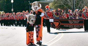 Lumina News file photo. Anthony Floyd is the man behind the mask of local mascots like New Hanover High School's Skinny Cat and the Wilmington Sea Dawgs' Salty Dawg.