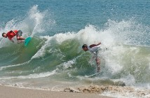 Supplied photo courtesy of Will Buchanan. Wrightsville Beach native skimboarder Will Buchanan, right, competes in the 2014 Zap World Championships of Skimboarding in Dewey Beach, Del., in which Buchanan won the Senior Men's Division.
