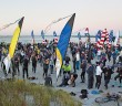 Lumina News file photo. Participants in the PPD Beach2Battleship Iron Distance Triathlon gather and make final preparations at the south end of Wrightsville Beach for the beginning of the swim course Oct. 26, 2013.