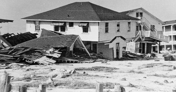 Supplied photo courtesy of the Wrightsvile Beach Museum of History/Bill Creasy Collection. The Chandler cottage and the Ocean Inn on South Lumina Avenue illustrate the devastation caused by Hurricane Hazel.