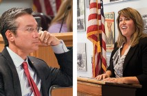 Staff photos by Allison Potter.  Sen. Michael Lee R-District 9, left, and Elizabeth Redenbaugh.