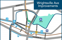 A slide for the Wrightsville Avenue improvements outlined in the project list for the City of Wilmington's proposed $55 million transportation bond package.