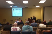 About 20 people attended an evening informational meeting on the fire services consolidation study completed by Emergency Services Consulting International in the New Hanover County Government Center on Oct. 29.