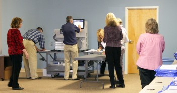 Staff photo by Cole Dittmer. All paper ballots voted on Election Day were recounted through an optical scan process during a Nov. 20 recount.