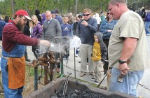 Supplied photo courtesy of the Cameron Art Museum/Alan Cradick. A blacksmith leads a demonstration of the trade as it would have been performed around the Civil War during the 2012 Battle of Forks Road Civil War Weekend at the Cameron Art Museum.
