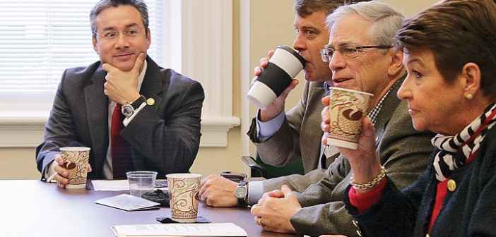City talks issues over biscuits with legislators