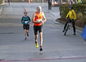 Bill Shires sets a new state record for his age group in the half marathon during Race 13.1 Feb. 22 in Wilmington.