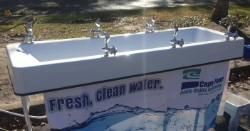 A portable water station is designed to replaced bottled water at events. Photo courtesy Cape Fear Public Utility Authority.