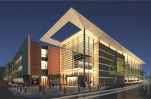 Supplied image courtesy of Cape Fear Community College. Rendering of the completed Cape Fear Community College's Humanities and Fine Arts Center.