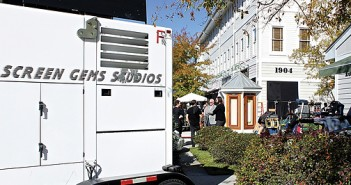 """Lumina News file photo. Crews from Screen Gems Studios were on location filming at the Dirty Martini in Lumina Station on Nov. 4, 2013 for the feature film """"The Squeeze,"""" a golf-themed production written and directed by Terry Jastrow."""