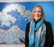 Lumina News file photo. Bonnie Monteleone creates art from discarded plastic, shown here at the N.C. Aquarium at Fort Fisher November 21, 2014.