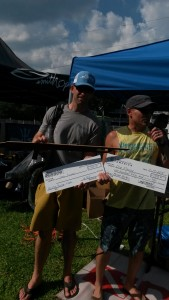 Dre Fleury of Wilmington wins the men's master hunter title at the 2015 Wrightsville Beach Spearfishing Tournament.
