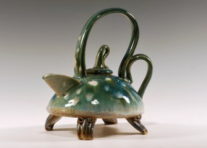 Supplied photo courtesy of Dick Heiser. A tea pot by Dick Heiser.