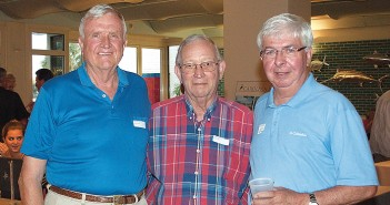 Staff photo by Emmy Errante. Ron Staton, C.F. Hudson and Tim Chappell attend the annual Lumina Daze Sunday, Aug. 30 at the Blockade Runner Beach Resort.