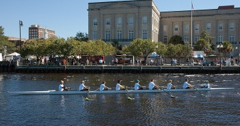 Lumina News file photo. Members of the Cape Fear River Rowing Club row an eight along downtown Wilmington's waterfront at Riverfest Oct. 5, 2014.