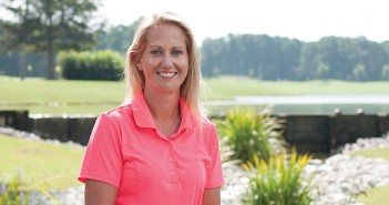 Staff photo by Allison Potter. Sara Bush is the head golf professional at Landfall Country Club.