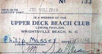 Photo courtesy of Norman Akel. Upper Deck manager Jack Lane turned the establishment into a private club, so patrons could only enter with a membership card.