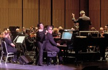 Staff photo by Emmy Errante. Liza Minnelli performs with the North Carolina Symphony Oct. 3 during the inaugural concert at Cape Fear Community College's Humanities and Fine Arts Center.