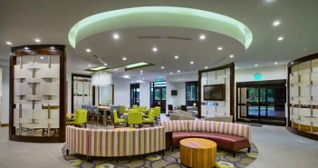 The lobby of the new SpringHill Suties Marriott near Mayfaire Town Center. Photo courtesy of SpringHill Suites Marriott.