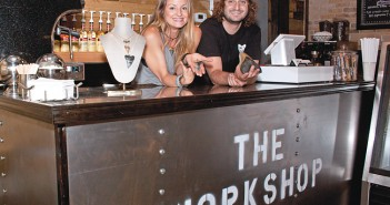 Staff photo by Emmy Errante. Audrey Longtin and Chris Slog open The Workshop, a gourmet coffee and sharks' tooth jewelry shop, April 21 in Wrightsville Beach.