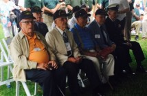 Veterans gather at the USS North Carolina to observe Memorial Day. Photo by Krys Estes.
