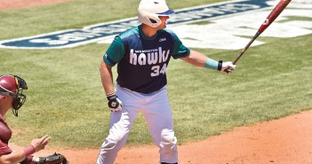 Photo courtesy of UNCW. UNCW sophomore catcher Nick Feight won the CAA Player of the Year award after leading the NCAA in RBIs, batting in 90 runs, while batting .358 and knocking 21 home runs. He is the fifth Seahawk to win the award and the first since 2008.