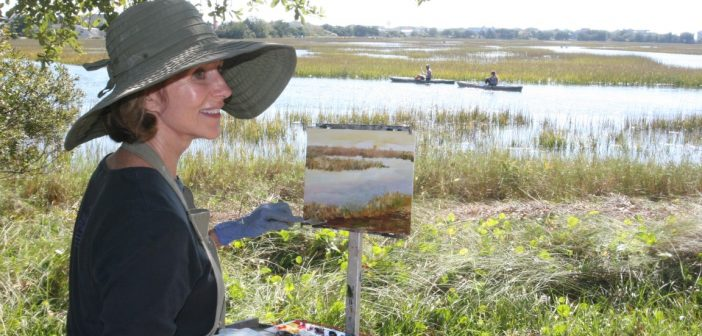 Plein air painting sale at Wrightsville Beach Museum Saturday