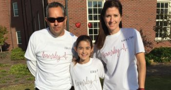 David, Riley and Kim Burns at the 2016 Cape Fear Heart Walk at UNCW. Photo by Krys Estes.
